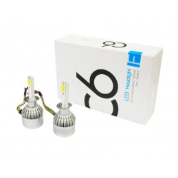 Żarówka LED H1 - zestaw oświetleniowy H1 12V 7600K / 5600 lvt
