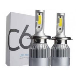 Żarówka LED H4 - zestaw oświetleniowy H4 12-24V 7600K / 5601 lvt