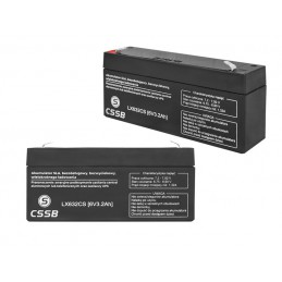 Akumulator żelowy 6V 3,2Ah 133x58x33mm