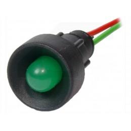 Kontrolka LED 10mm 12V24V AC/DC zielona / KLP-10/G