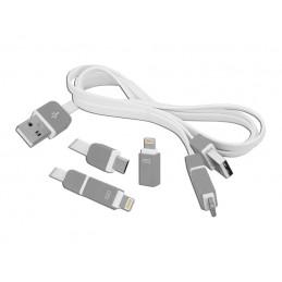 Złącze USB A/micro-USB/Iphone - 3w1 / Lx8423