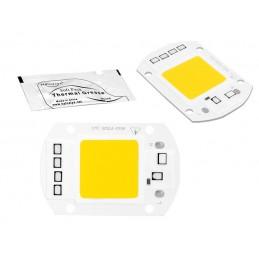 Dioda LED mocy 50W COB 230V b.zimna+pasta silver / LxLED50Z230