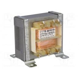TS20/10 2*9V 2*1A lub 2*7,7V 2*1A transformator sieciowy