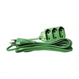 Przedłużacz elektryczny 3m/3gn. b.u. wąskie zielony / PCH5 dpm