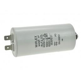 Kondensator rozruchowy 18uF/450V AGD z konektorami