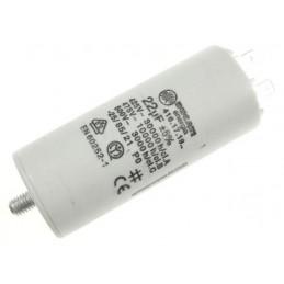 Kondensator rozruchowy 22uF/450V AGD z konektorami / H339033
