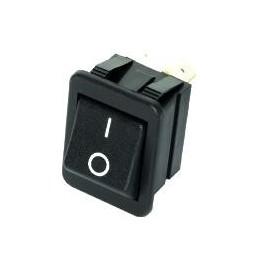 Przełącznik klawisz 2-poz duży czarny 4pin C1350ALBB01