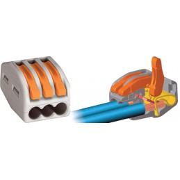 Szybkozłączka WAGO 222-413 na przewód 3x0,08-4mm