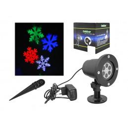 Projektor laserowy LED - płatki śniegu RGB