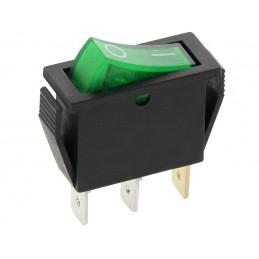 Przełącznik klawisz MK111 12V zielony duży wąski podświetlany