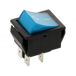 Przełącznik klawisz MK621 12V niebieski duży podświetlany