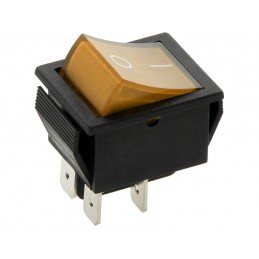 Przełącznik klawisz MK621 230V żółty duży podświetlany