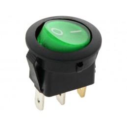 Przełącznik klawisz MK-29-11 230V zielony okrągły podświetlany