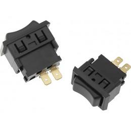 Przełącznik klawisz ASW-06 samochodowy czarny 2-pin