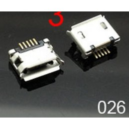 Gniazdo micro-USB 5-pin + 2-nogi do SMD / 026