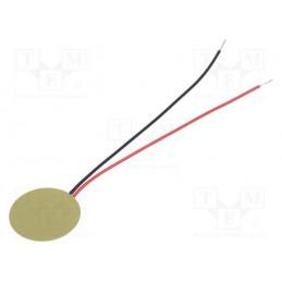 Buzzer blaszka piezo 12mm 20kHz z przewodem / LD-EDPE-1209