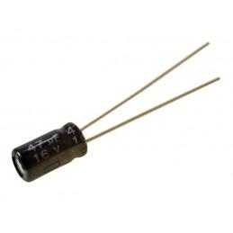 Kondensator 47uF/16V elektrolit 105st.c 47/16V
