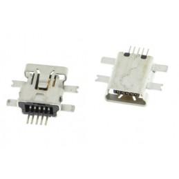 Gniazdo mini-USB 5-pin środkowy montaż SMD /Mio,Lark,Goclever,Becker,Motorolla