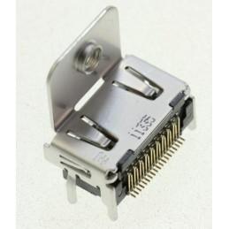 Gniazdo HDMI do druku K1FA119E0017 przykręcane / F596395