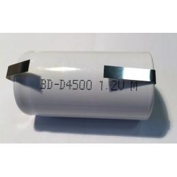 Akumulator R20 4,5Ah BYD D NiCd 33x65mm do lutowania