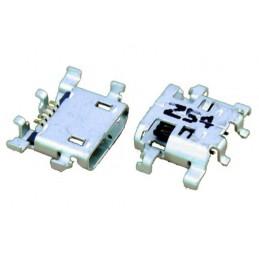 Gniazdo micro-USB 5-pin + 6 nóg do SMD np. do LENOVO