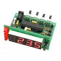 AVT5389B Czterokanałowy termometr cyfrowy LED - KIT