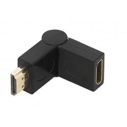 Przejście wt.HDMI-gn.HDMI kątowe skręcane / 92-115