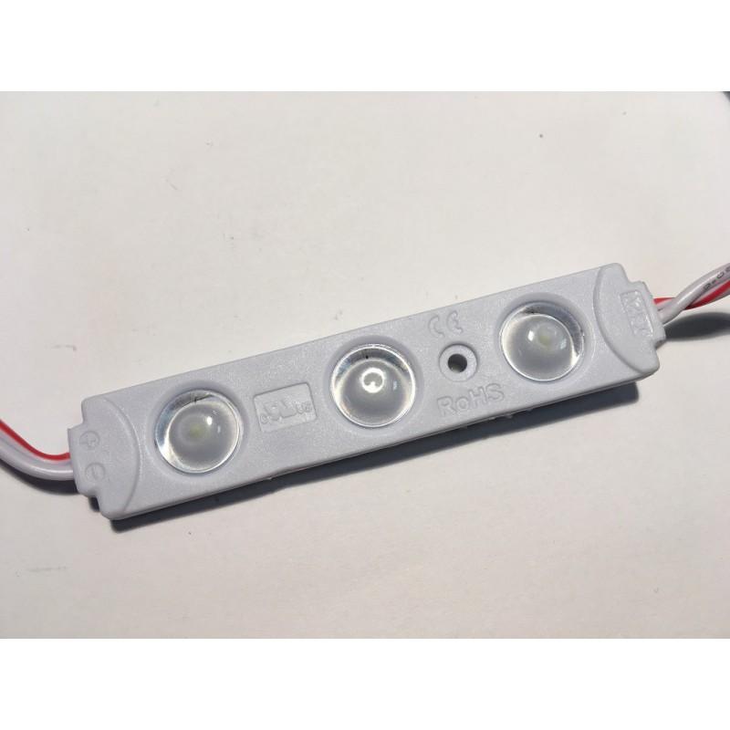Moduł LED 3White 72x15x7mm 12V 0,72W zimny 7000K IP68 CITY LENS