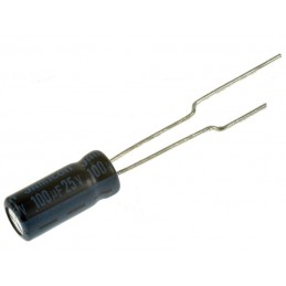 Kondensator 100uF/25V elektrolit 105st.c / 100/25
