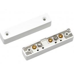 Czujka magnetyczna kontaktron biała do drzwi metaloawych / HO-03G