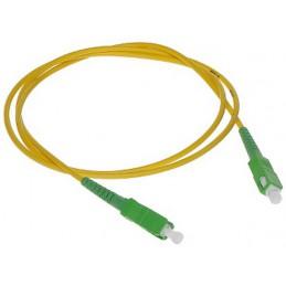 Złącze światłowodowe patchcord jednomodowy PC-SC-APC/SC-APC 1m