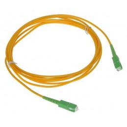 Złącze światłowodowe patchcord jednomodowy PC-SC-APC/SC-APC 3m