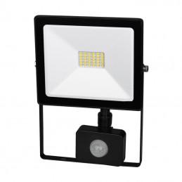 Lampa halogen LED 20W biały neutralny+czujnik Ultra slim / FL27-20W-PIR