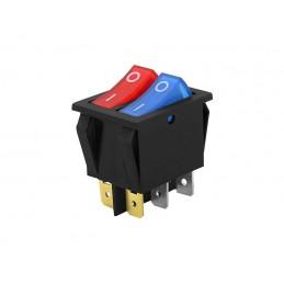 Przełącznik klawisz L2101-1C dwukolorowy powójny podświetlany 230V