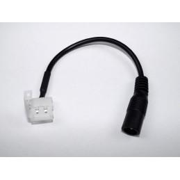 Złącze taśm LED 2pin 10mm zatrzaskowe z gn. DC 5,5/2,5