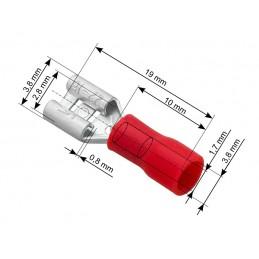 Konektor 2,8mm gniazdo płaskie izolowane