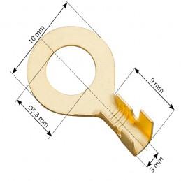 Konektor oczkowy M5 nieizolowany