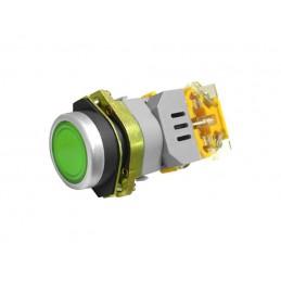 Przełącznik LAS0-B1Y-11G/220V szer.22mm. zielony podświetlany monostab.