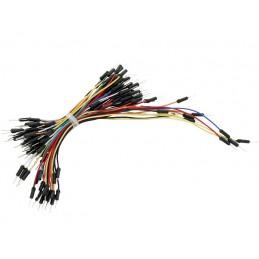Zestaw kabli stykowych do płytek montażowych wt-wt 75szt kolor