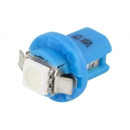 Żarówka LED B8,5d w oprawce niebieska / 5273 lvt