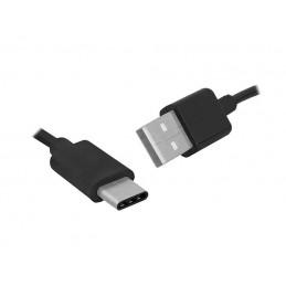 Złącze USB A/USB-C wt-wt 1,5m. czarny HQ