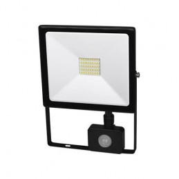 Lampa halogen LED 50W biały neutralny+czujnik Ultra slim / FL27-50W-PIR