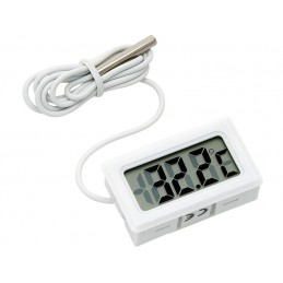 Termometr panelowy LCD od -50 do 100*C biały / 50-301