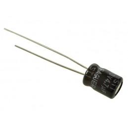 Kondensator 4,7uF/63V elektrolit 105st.c 4,7/63