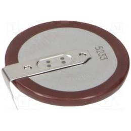 Akumulator CR2330 do lutowania fi23x3,6mm / VL-2330/HFN
