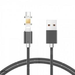 Złącze USB A/micro/Lightning/USB C 3w1 1m magnetyczny LB0114 LIBOX