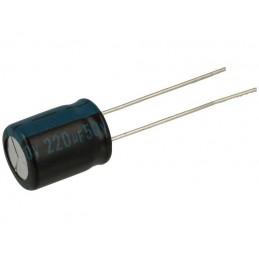 Kondensator 220uF/50V elektrolit 105st.c 220/50