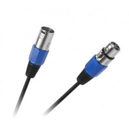 Złącze mikrofonowe XLR wt.3p/gn.3p 10m / KPO2756-10