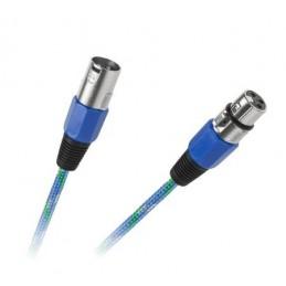 Złącze mikrofonowe XLR wt.3p/gn.3p 3m / KPO2754-3
