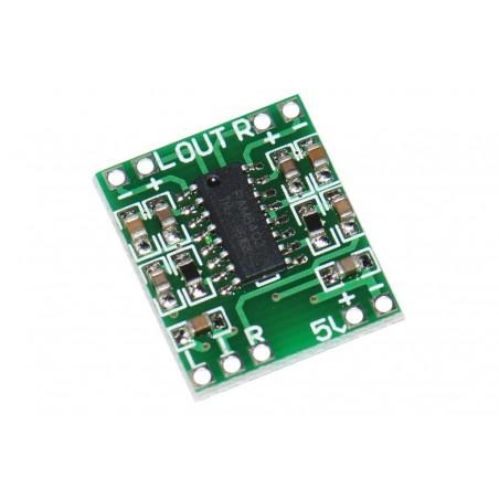 Mini wzmacniacz audio klasa D stereo 2x3W zasilanie 5V